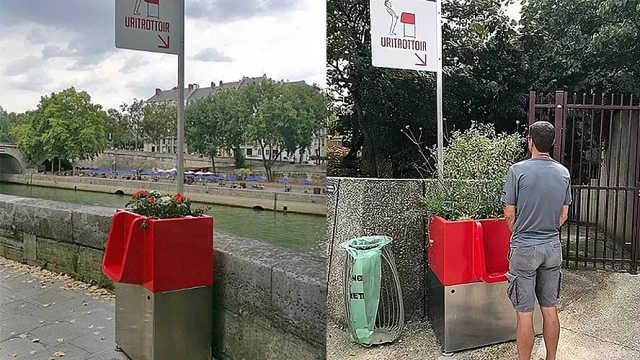 巴黎推出露天小便池,市民:好尴尬
