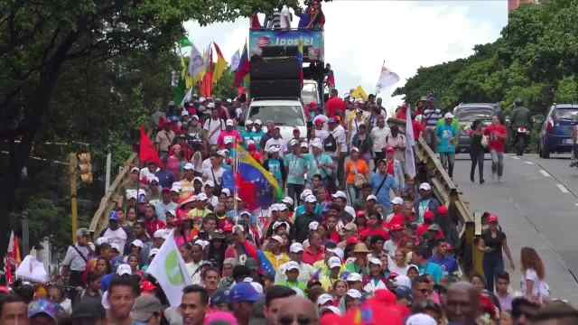 委内瑞拉大游行:反对美国帝国主义