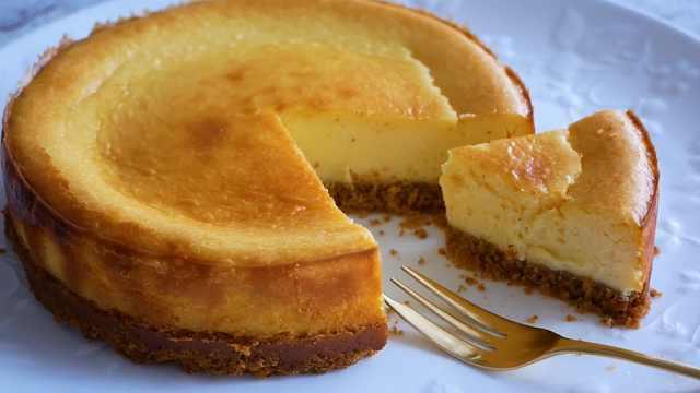 香甜诱人的芝士蛋糕,自制美味甜点