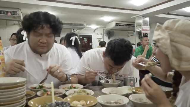 泰国正宗米粉,3人轻松吃掉40碗
