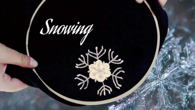 手工刺绣:把冬天的雪花留在衣服上