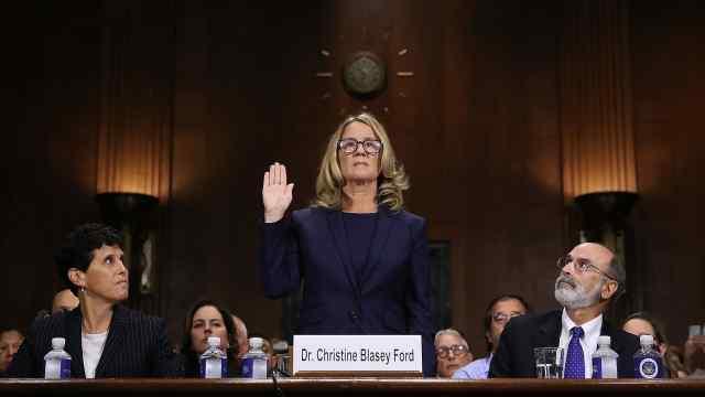 美参院举行大法官候选人性侵听证会