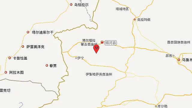 新疆精河县5.4级地震,多地有震感