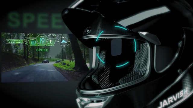 """戴上内置""""贾维斯""""的头盔开摩托车"""