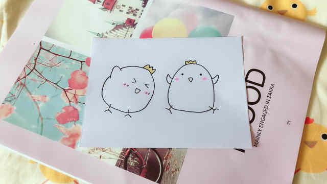 domi教你手绘毛茸茸的可爱小鸡