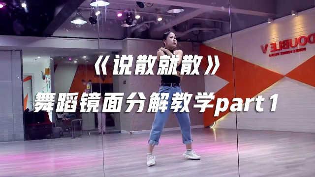 《说散就散》舞蹈镜面分解教学p1