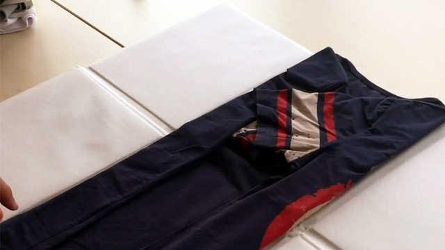 一个快速叠衣服的新方法