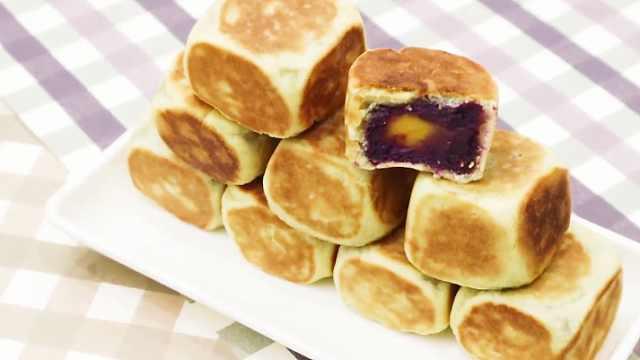 紫薯方糕,香甜不腻