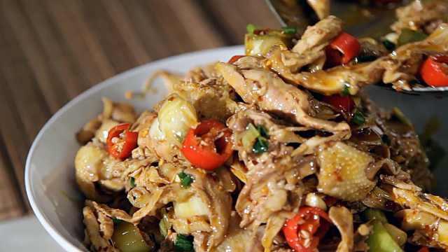 筋道凉拌鸡和温暖鸡汤,满足感爆棚