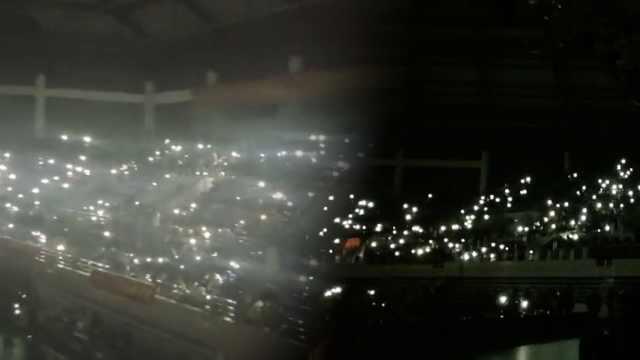 晚会遇停电,5千学生造星海合唱校歌