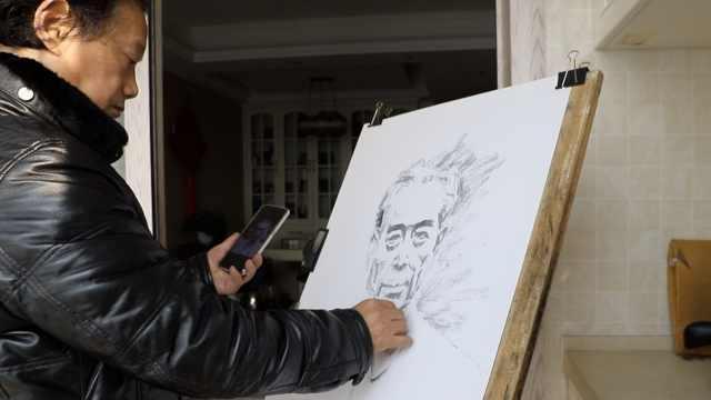 周总理逝世43周年,他画78幅图纪念