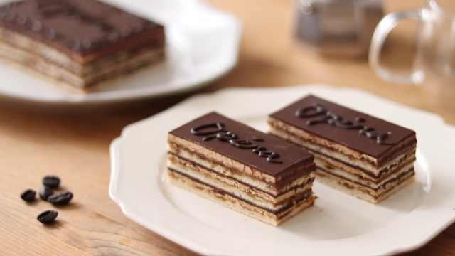 香浓巧克力歌剧院蛋糕