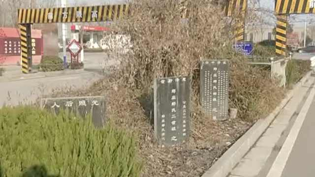 绿化带竟藏3座墓碑,市民:有点瘆人