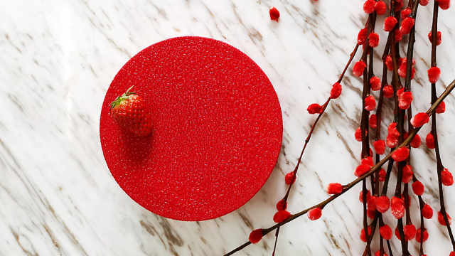 Cedric Grolet 系列之草莓慕斯蛋糕