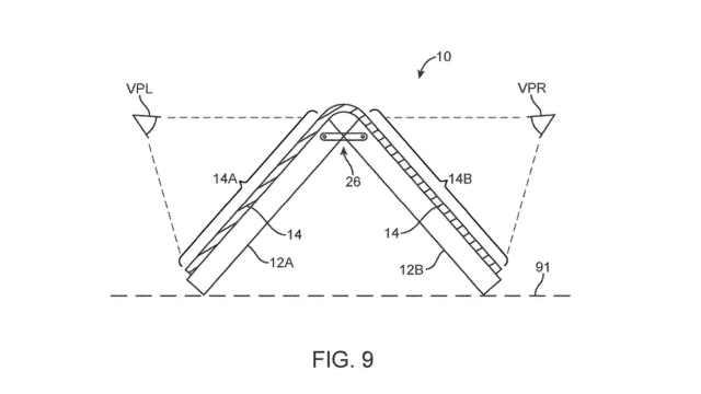 苹果更新可折叠iPhone专利,长这样