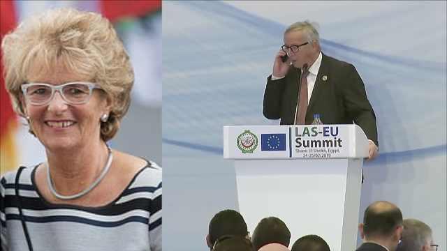 老婆又来电话了!欧盟主席中断演讲
