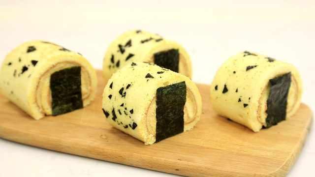 海苔豆乳卷:把爱吃的零食做进甜品