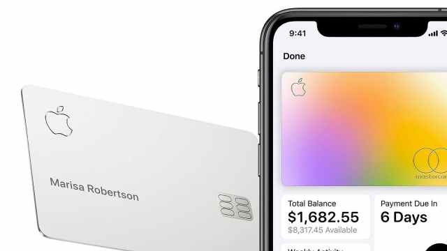Apple Card实体卡:无卡号只刻名字