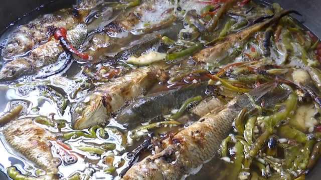 稻香鱼搭配猪草煮,这烧鱼味道绝了