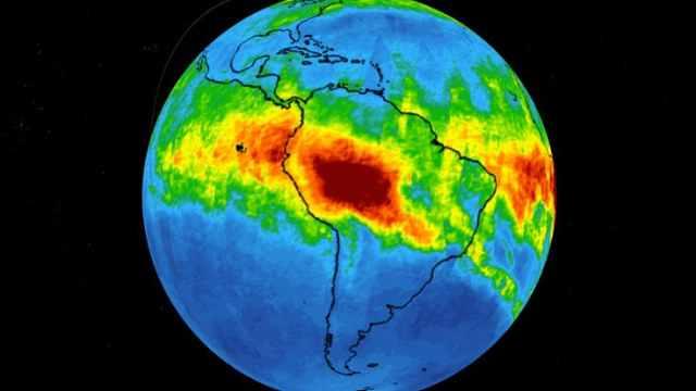 NASA:亚马逊火灾产生CO飘向东南