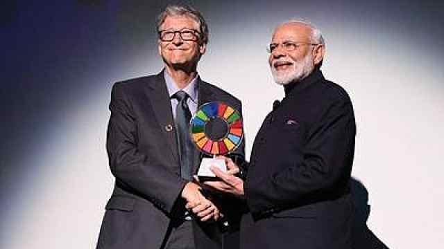 建1亿个厕所,比尔盖茨为莫迪颁奖