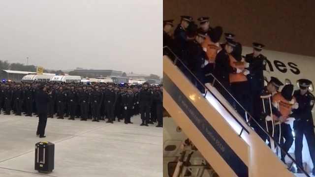 包机2架!301名杀猪盘嫌犯被押回国