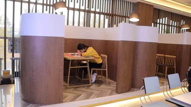 高校餐厅设850考研雅座:开中央空调