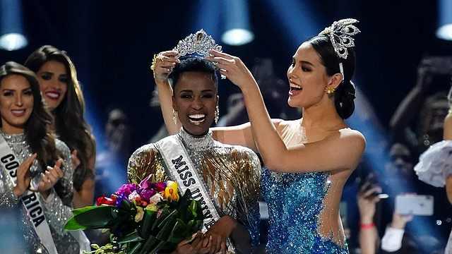南非美女获环球小姐冠军,发型亮了