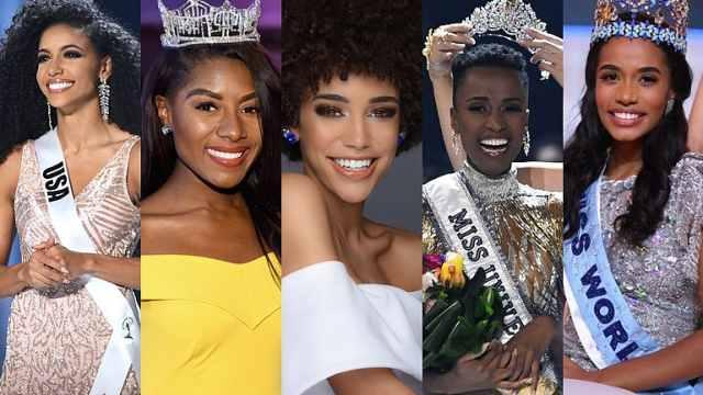 五大选美冠军首次全部花落黑人女性