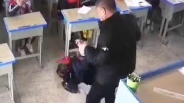 浙江龙港一老师体罚小学生,已停职