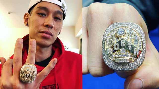 林书豪秀总冠军戒指,周杰伦秒赞