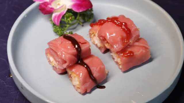 20年老师傅改良早茶美食,红米鲜虾肠看着喜庆吃着Q弹