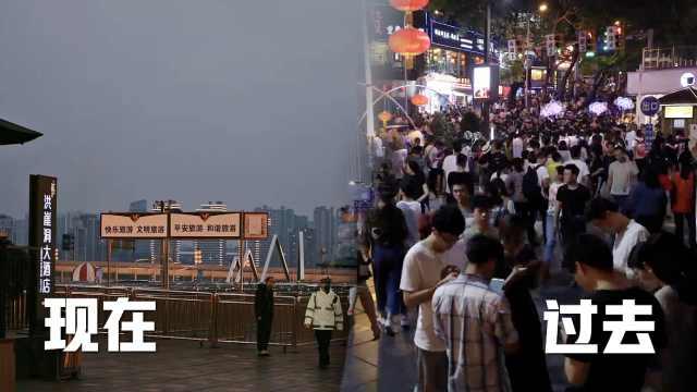 大学生街头实拍,疫情下的重庆空城