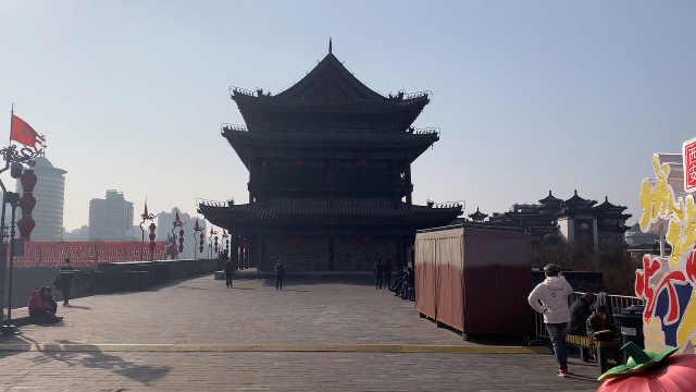 西安城墙开放,日限3千人免票1个月