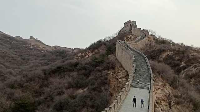 八达岭长城关闭59天后开放,首日游客稀少