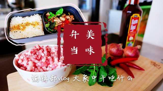 老挝美食薄荷炒肉末,知名度不亚于西红柿炒鸡蛋