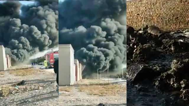 农户家中80吨沥起火浓烟遮天,消防员屡次冲火场被逼退