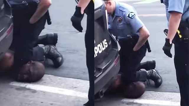 白人警察跪压黑人颈部致其死亡,美国种族歧视事件频发引抗议