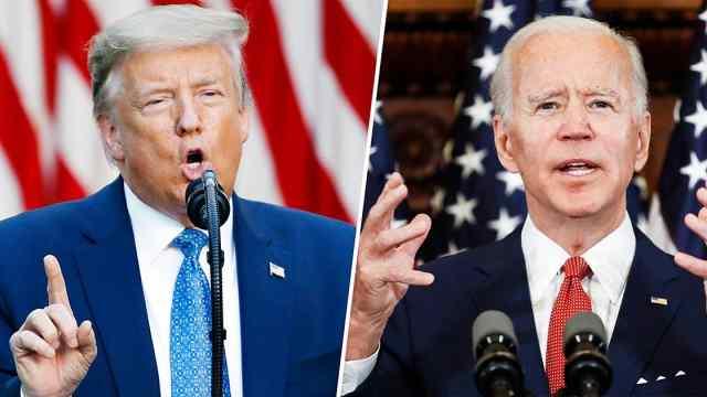 总统选战激烈!4分钟看特朗普与拜登就疫情隔空互怼