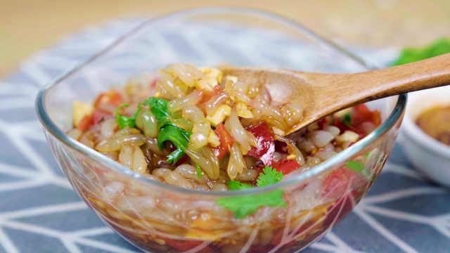 四川凉粉最简单的做法,清爽滑嫩,酸辣爽口巨开胃