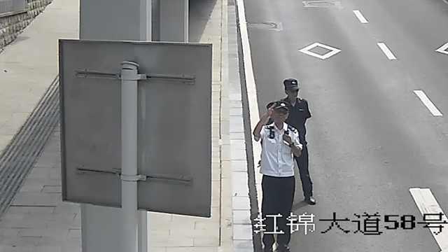 最深情敬礼!重庆60岁民警站最后1班岗,同事隔屏幕回敬泪目