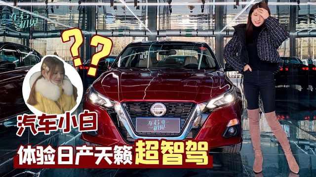 初晓敏:带领汽车小白体验日产天籁超智驾