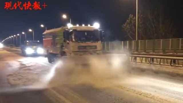 扫雪除冰,扬州六千人一夜无眠
