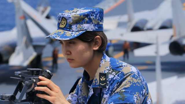 乘风破浪的妹妹!新疆95后姑娘大学入伍成辽宁舰操舵兵