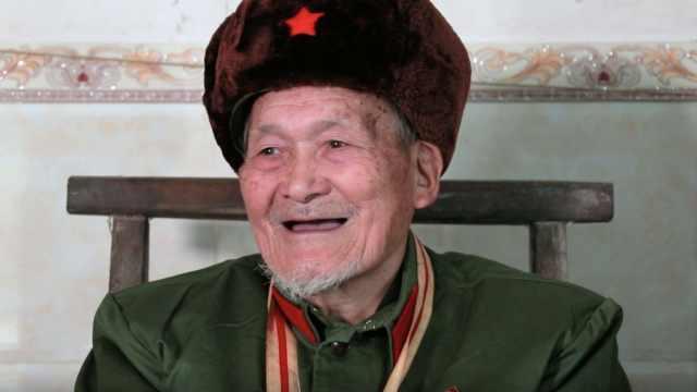 广西百岁老红军,自创山歌赞脱贫