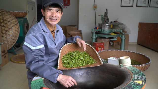龙井手工炒茶师:200度高温手炒茶叶,满手起泡