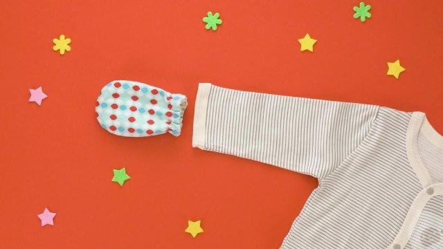 实用DIY:婴儿防抓护手套