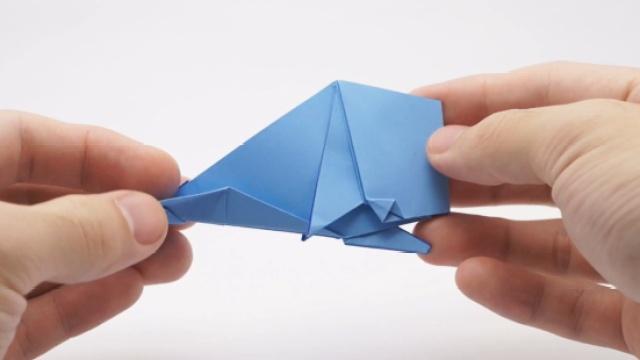 创意折纸DIY抹香鲸