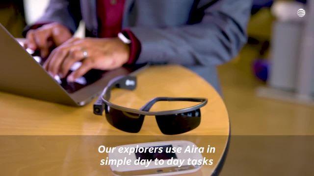 美国AT&T智能盲人眼镜,盲人看世界