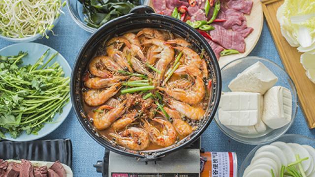 鲜虾鱼头火锅